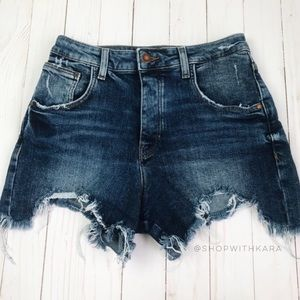 ZARA Trafaluc Raw Hem Denim Shorts